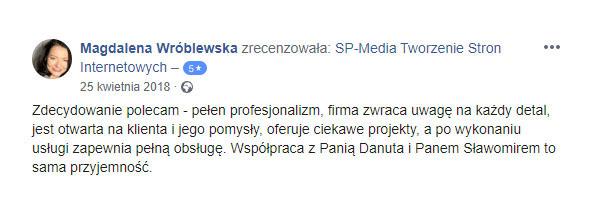 Opinia na temat firmy SP-Media Przemysław Szliep