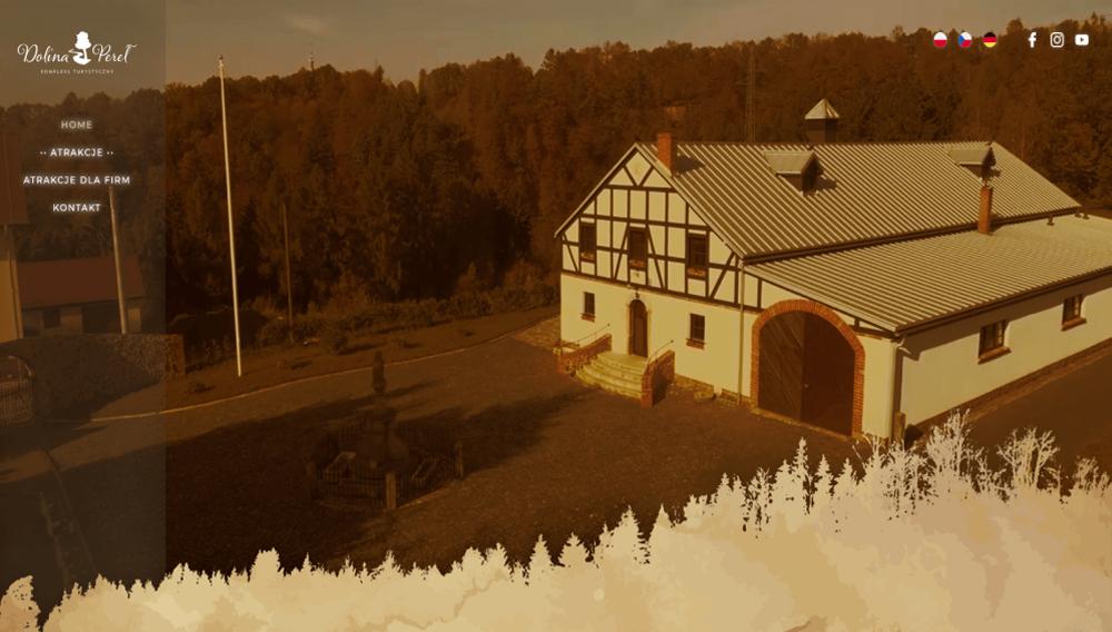 Realizacja strony www dla firmy Dolina Pereł