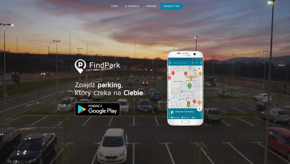Realizacja strony www dla firmy FindPark