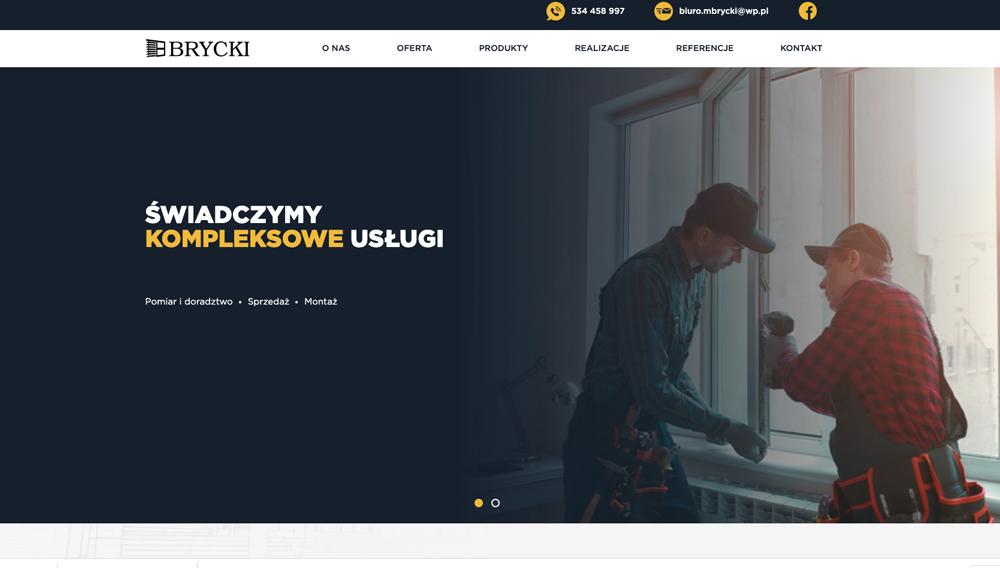 Realizacja strony www dla firmy Brycki
