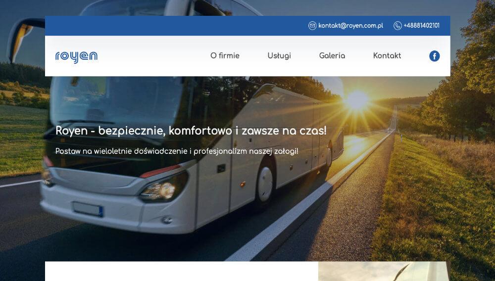 Realizacja strony www dla firmy Royen